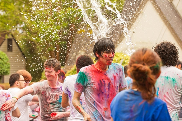 Students celebrate festival of color