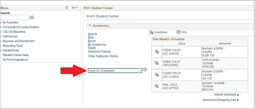 other academic drop-down box