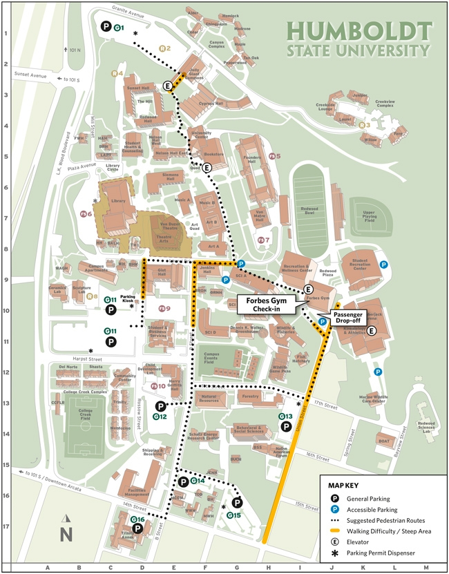 Event Parking and Check-in Map